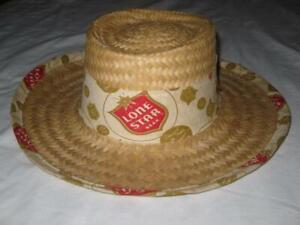 Vintage Hat Lone Star Beer Straw Hat