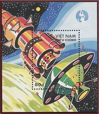 VIETNAM Bloc N°43** Bf Espace, 1988 Vietnam 1915 Space Cosmos Day Sheet MNH