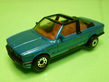 MATCHBOX BMW E30 323I BAUER CABRIOLET CONVERTIBLE - BLUE 1:58