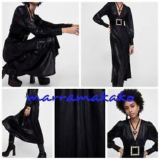 ZARA NEW CAMPAIGN COLLECTION BLACK SHINY DRESS 7568/474 SIZE M VESTIDO BRILLO