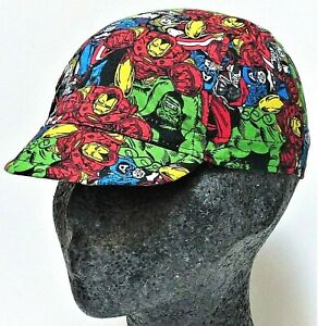 NEW SPORTS CYCLE CYCLING COMIC BOOK HEROES COTTON BICYCLE CAP HAT UK HANDMADE