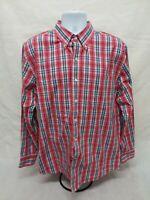 Men's Large IZOD Long Sleeve Button-Down - 100% Cotton
