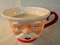 Department 56 Santa Claus Christmas Candle Mug Ceramic