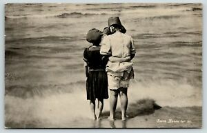 South Haven For Us~Michigan Victorian Bathing Beauties View Waves~Bloomers~1910