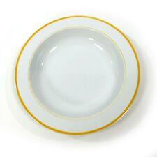 "Block Spal Portugal Lisboa Yellow Rim 8.75"" Soup Bowl Wide Rim Single Bowl"