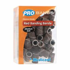 2X Medicool Red Sanding Bands - Medium Grit - Brand New - Fast Shipping