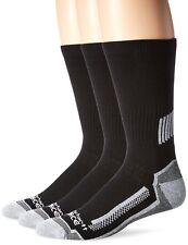 Carhartt Men's 3 Pack Force Performance Work Crew Socks, Black, Shoe: 11-15