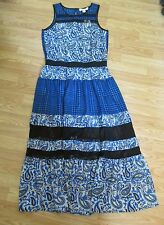 Michael Michael Kors Amalfi Blue Color Long Dress  (size M)
