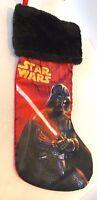 Christmas Star Wars Darth Vader Stocking Red Satin Plush 2015 Holiday Lucasfilm