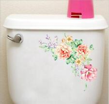Chic Peony Flower Wall Stickers Toilet Fridge Background PVC Art Home Decor LG