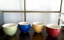 Longaberger Pottery Round Dessert Nesting Bowls 10 oz. - Set of 4 - Multi Colors