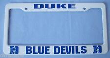 DUKE BLUE DEVILS PLASTIC LICENSE PLATE FRAME AUTO CAR TRUCK FREE SHIP