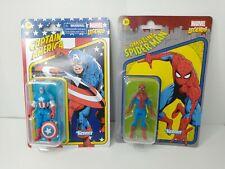 Kenner Marvel Legends Retro 3.75  Spiderman + Captain America New Avengers lot