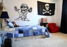 Pirate Skull & Swords Wall Stickers Boys bedroom Wall Art Decor Skulls Pirates