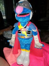 """Super Grover """"2.0"""" -2011 Hasbro Talking- Batteries Included"""