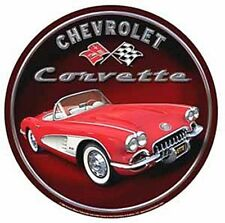 Chevrolet Corvette Early 60's  Round Metal Sign 300mm x 300mm   (sf)