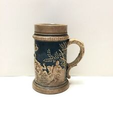 "Vintage Sculptured Stein Germany Anno 1830 Mold #1259A 7"" tall, .5 liter."