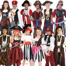 Kids Caribbean Pirate Captain Fancy Dress Costume Book Week Bucaneer Outfit