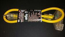 12/ 3 TRI TAP 3ft EXTENSION CORD WITH LED POWER INDICATOR LIGHT
