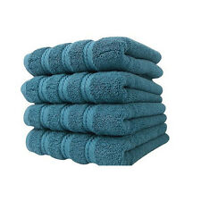 4pc BLUE quality Hand Towel Set * Antalya Collection * Turkish cotton * 600 GSM