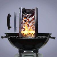 BBQ Fire Lighter Chimney Starter Charcoal Grill Steel Rapid Quick Fire Lighter
