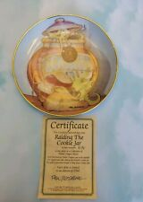 """Pocket Dragons Collector Plate """"Raiding the Cookie Jar"""" w/ Box and Certificate."""