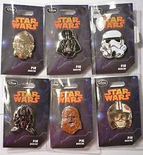 STAR WARS~Series 1~6~PINS~Darth Vader+Luke+Tie+C-3PO+Chewbacca+~NWT~Disney Store