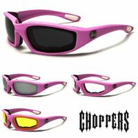 Choppers Womens Pink Riding Biker Padded Sunglasses - ch12pink