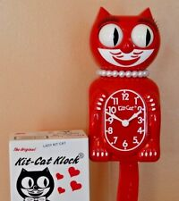 NEW AUTHENTIC FULL SIZE Kit Cat Clock SCARLET RED LADY Made In USA