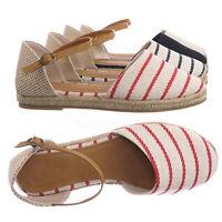 Phuket17 Espadrille Round Toe Flat Sandal - Linen dOrsay Cutout Flatform Shoes