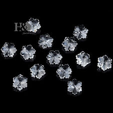 50 Clear Snowflake Crystal Beads DIY Jewelry Part Prisms Xmas Wedding Decor 14mm