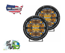 RIGID Industries Series 6 Inch Led Off-Road Drive Beam Amber Backlight Pair