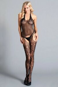 Be Wicked Lace Race Body Stocking - BWB112