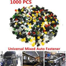 1000pcs Clips Car Fender Bumper Door Car Surface Fastern Trim Push Pins Mixed