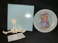 Vintage  AVON 1981 Mother's Day Plate, Cherished Moments, w/Box & Stand, NOS