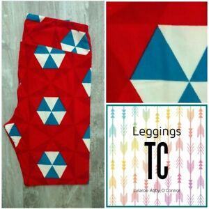 Lularoe Americana Limited Edition Leggings TC Tall & Curvy Beach Umbrellas