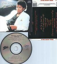 MICHAEL JACKSON-THRILLER-1982-JAPAN-EPIC/QUINCY JONES REC. EK 38112  1A5 73-CD-M