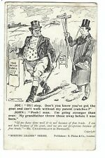 Satirical Political Postcard about Free Trade - Morning Leader Series