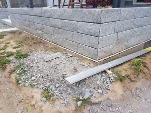 Granit Bergama Grey Mauersteine 15x20x40cm Trockenmauer Gartenmauer