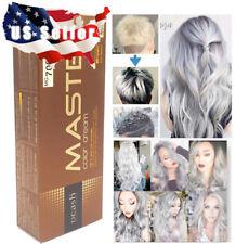 Hair Grey Titanium Silver Permanent Dye Color Cream Smoke Protein Charm Salon US