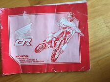HONDA 1990 CR125R 125  MOTORCYCLE OWNER'S MANUAL USED