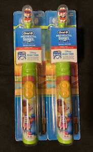 (2) Oral B Pro Health Doc McStuffing Stages Disney Soft Powered Toothbrush