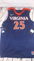 NWT Nike Virginia Cavaliers #25 NCAA Basketball Jersey Men's Size M