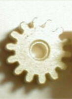 """14 Tooth Regular Brass Pinion Gear .078"""" Hole 48 Pitch Vintage Slot Car NOS"""