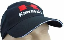 KAWASAKI CLASSIC BASEBALL CAP BLACK HAT POLYESTER  LOGO EMBROIDERED IN FRONT
