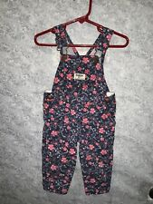 Osh Kosh Baby Girls Navy Floral Light Weight Overalls Size 12M