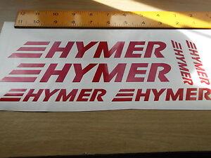 HYMER Vinyl set Caravan Campers Motorhome stickers x 6