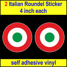 """4"""" Italian Air Force Roundel Stickers RAF MOD Who Vespa Lambretta Scooter decal"""