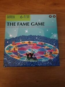 M&S The Fame Game. Kids 6-11 Years. Board Game. Mint Condition. 100% Complete