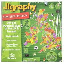 Jigraphy LIMITED EDITION - 2014/15 UK & Ireland Football Map Jigsaw - New